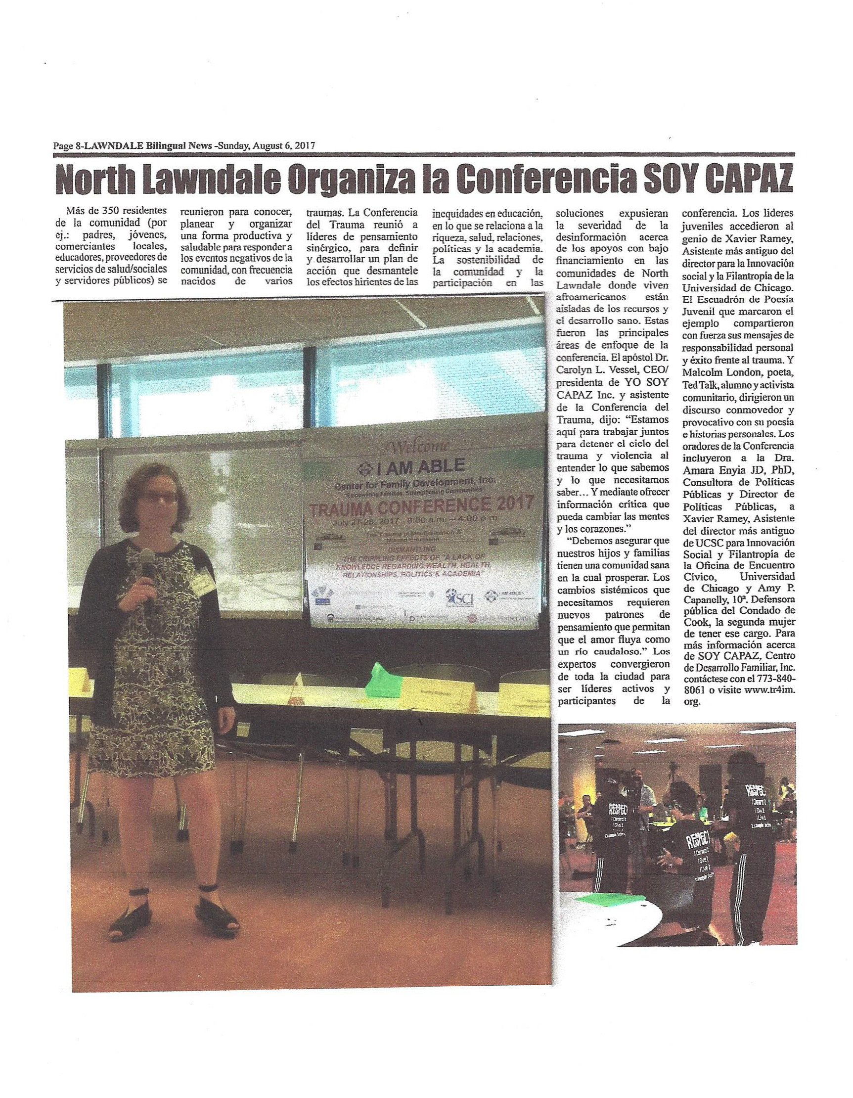 North Lawndale News - Able Conference - Spanish- UPDATED